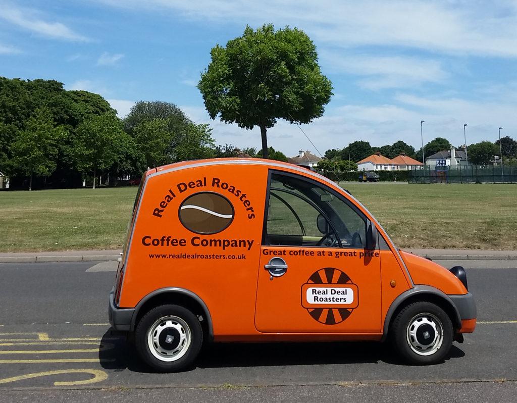 Real Deal Roasters deliver freshly roasted coffee in their Nissan S-Cargo van